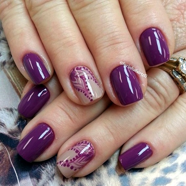 Purple Nail Art Designs (26)