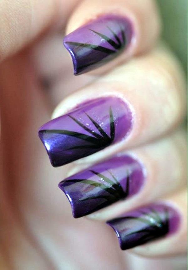 Purple Nail Art Designs (29)