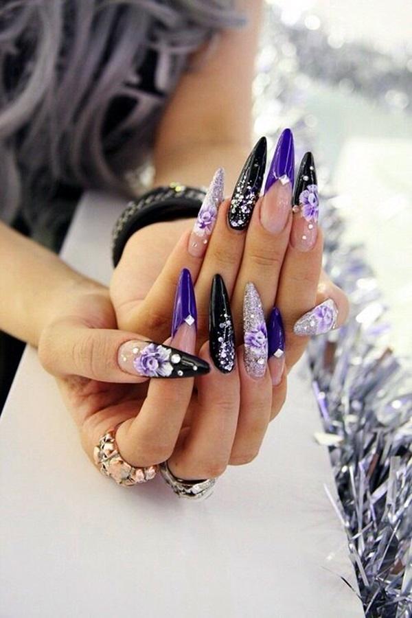 Purple Nail Art Designs (3)