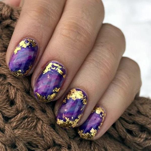 Purple Nail Art Designs (30)