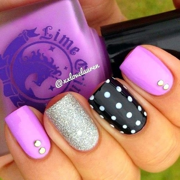 to make your nail art easy and attractive purple nail art designs
