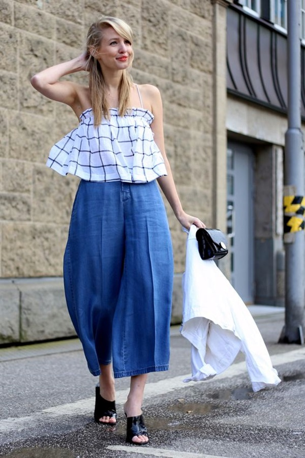Casual Culottes Outfit (10)
