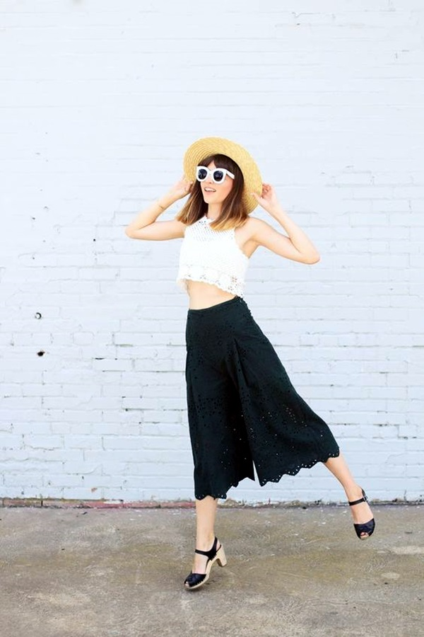 Casual Culottes Outfit (12)