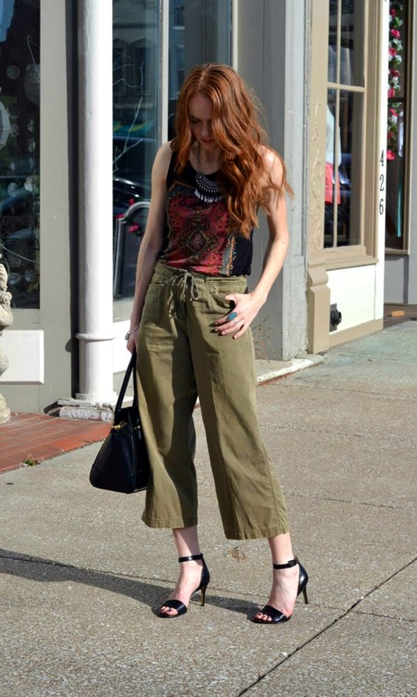 Casual Culottes Outfit (17)
