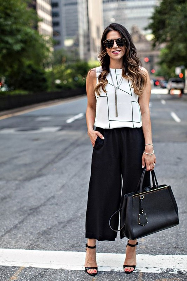 Casual Culottes Outfit (20)