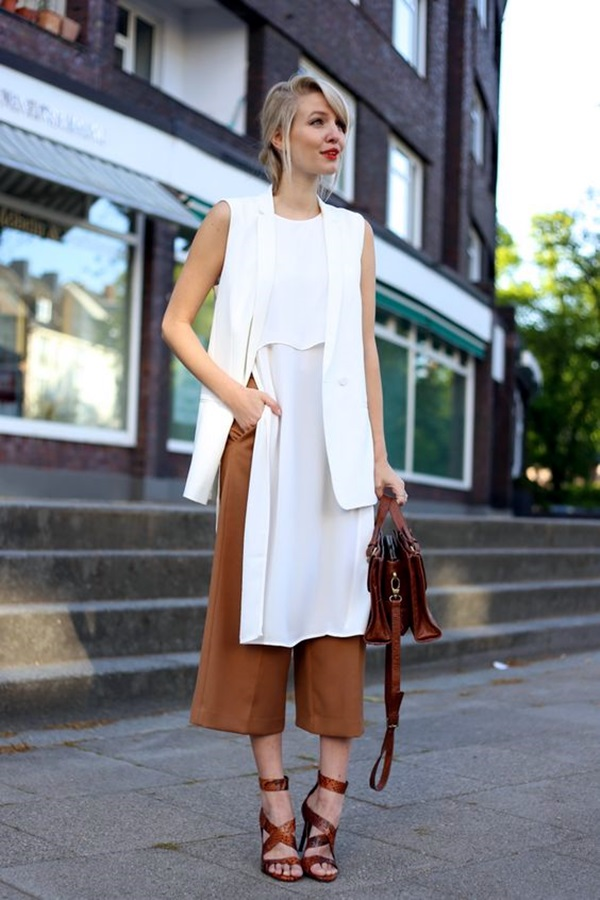Casual Culottes Outfit (21)