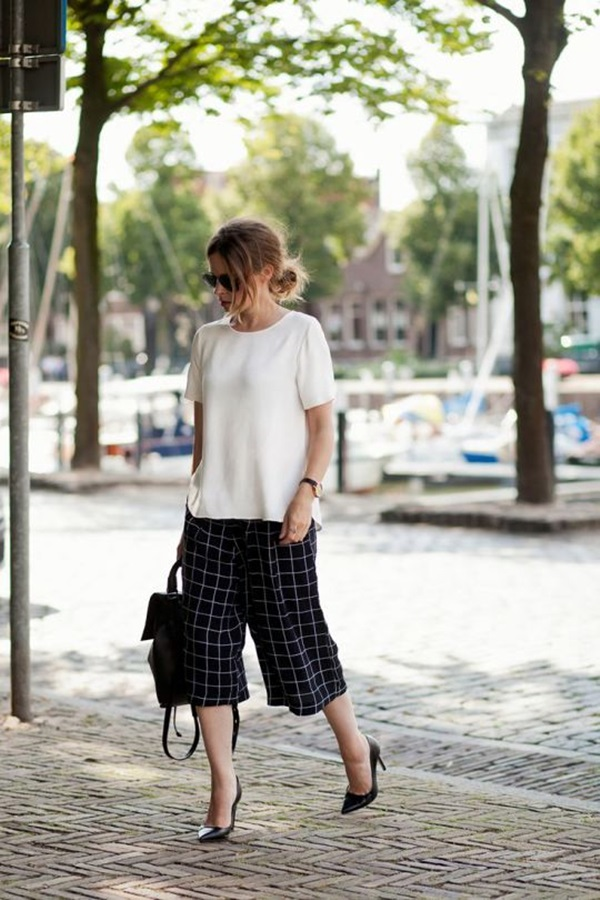 Casual Culottes Outfit (23)
