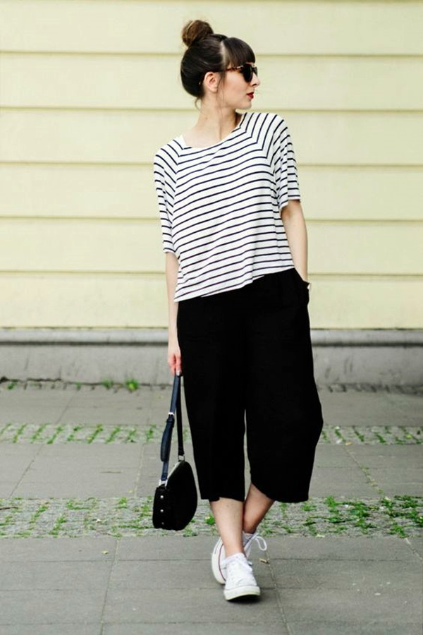 Casual Culottes Outfit (4)