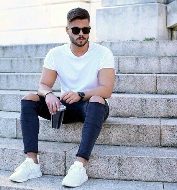 Mens Fashion Outfits To Pair Up With Sneakers (6)
