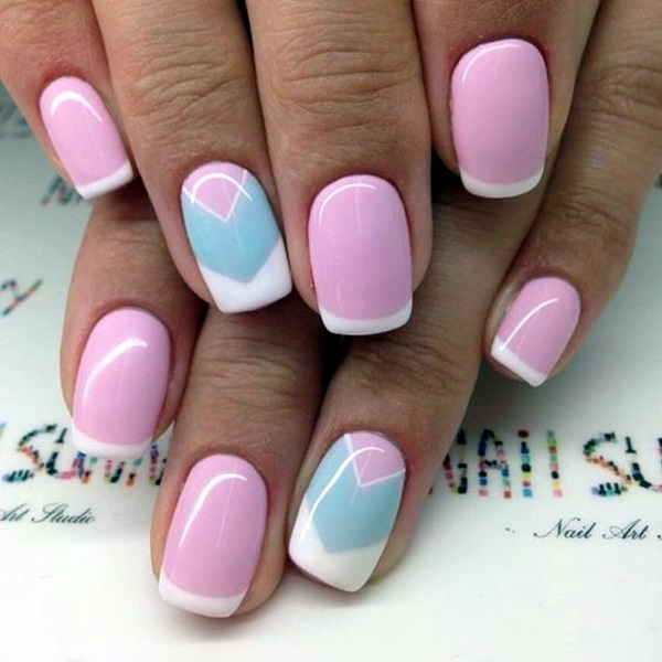 Pretty French Nails Designs (10)