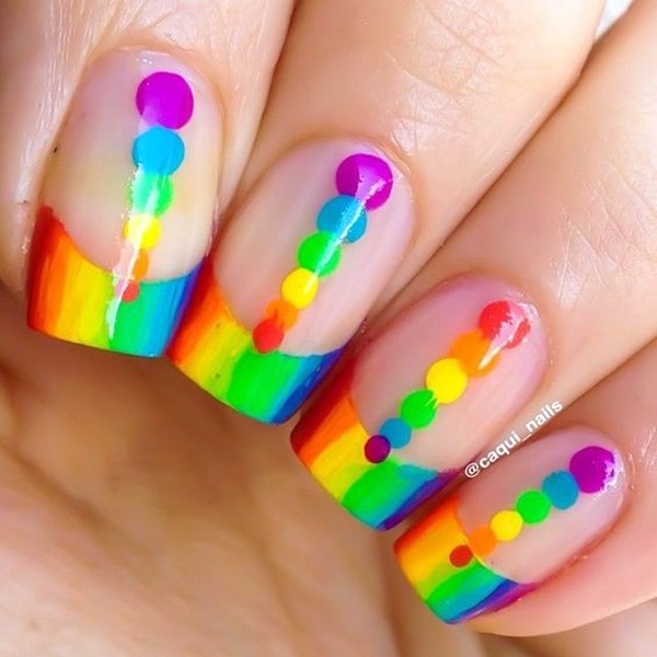 Pretty French Nails Designs (12)