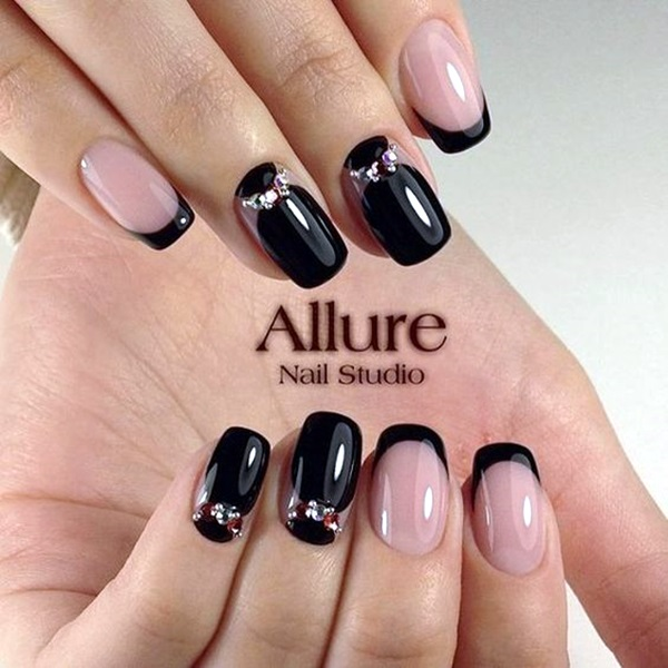 Pretty French Nails Designs (25)