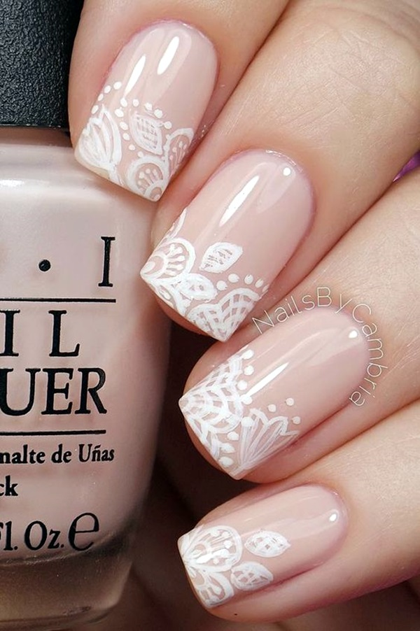 Pretty French Nails Designs (4)