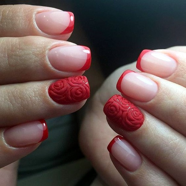 Pretty French Nails Designs (5)