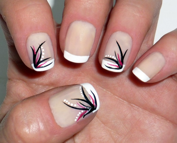 Pretty French Nails Designs (8)