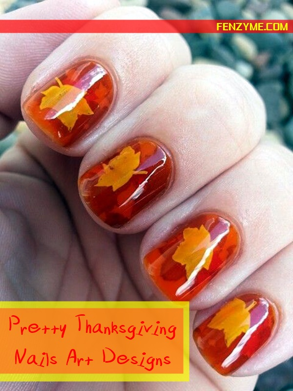 Pretty Thanksgiving Nails Art Designs (1)