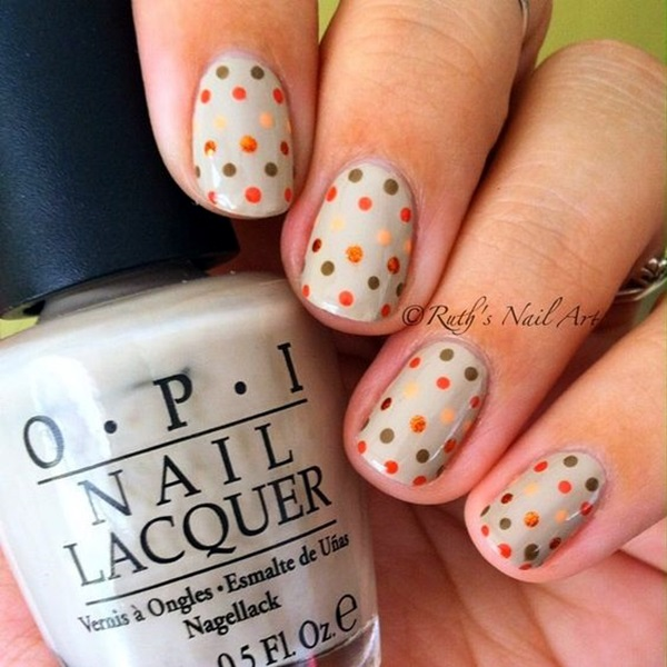 Pretty Thanksgiving Nails Art Designs (11)