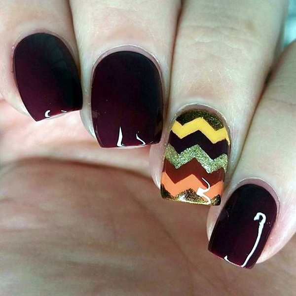 Pretty Thanksgiving Nails Art Designs (16)