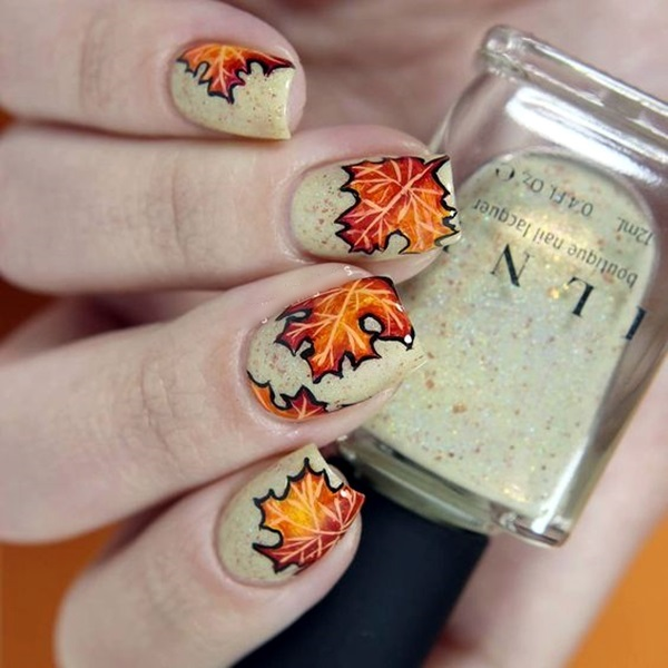 Pretty Thanksgiving Nails Art Designs (19)