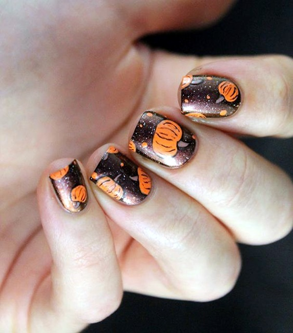 Pretty Thanksgiving Nails Art Designs (23)