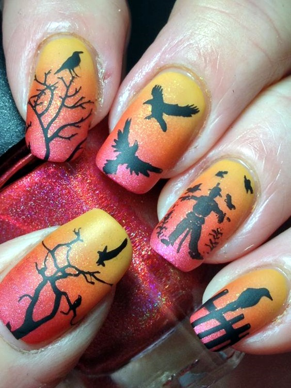 Pretty Thanksgiving Nails Art Designs (4)