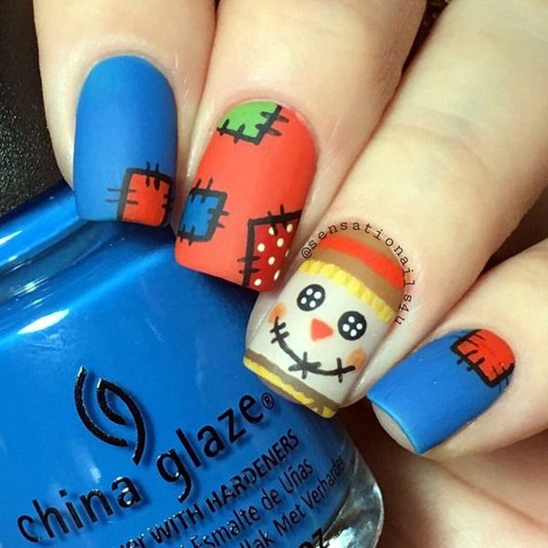 Pretty Thanksgiving Nails Art Designs (5)
