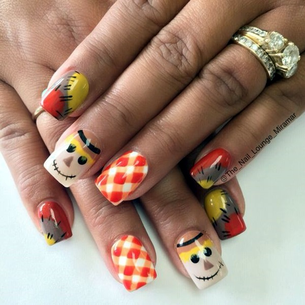 Pretty Thanksgiving Nails Art Designs (6)