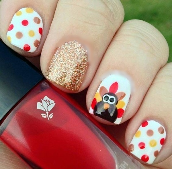 Pretty Thanksgiving Nails Art Designs (7)