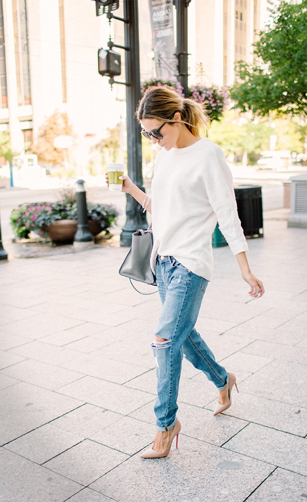 How to Wear Boyfriend Jeans Outfits (b)