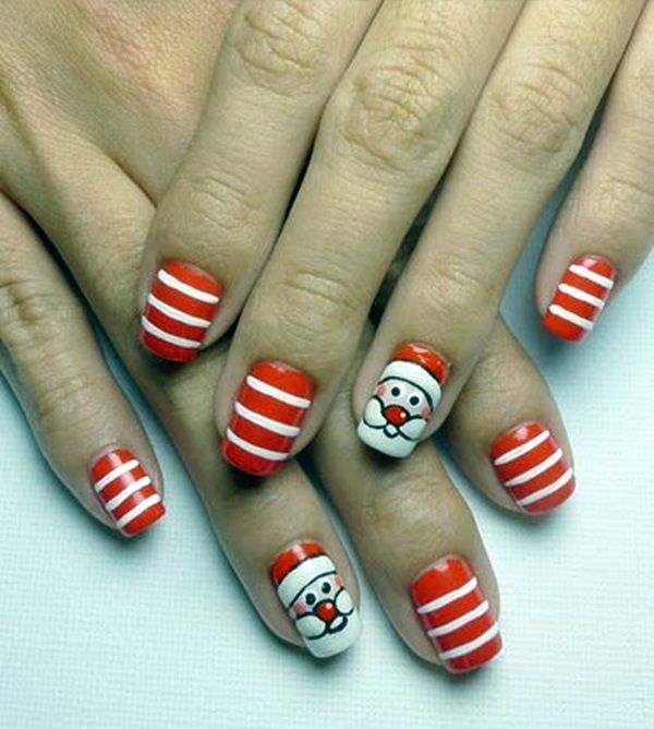 Santa Claus Nail Art: 25 Pretty Santa Nails Ideas For This Christmas Party