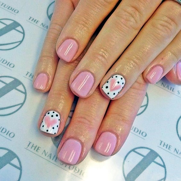 cute-pink-and-black-nails-designs-1