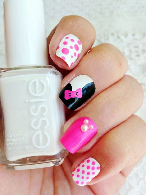 cute-pink-and-black-nails-designs-11
