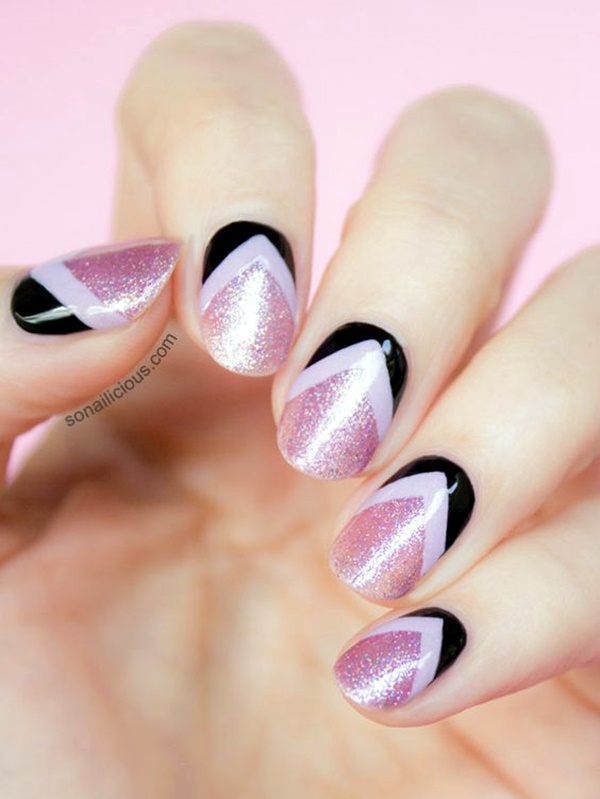 cute-pink-and-black-nails-designs-12