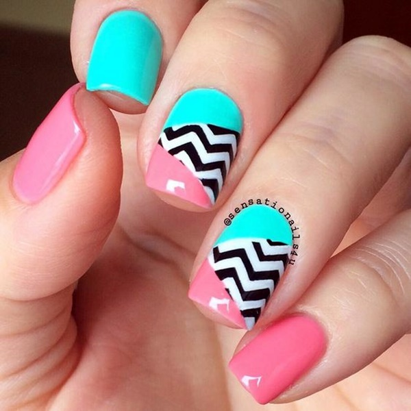 cute-pink-and-black-nails-designs-17