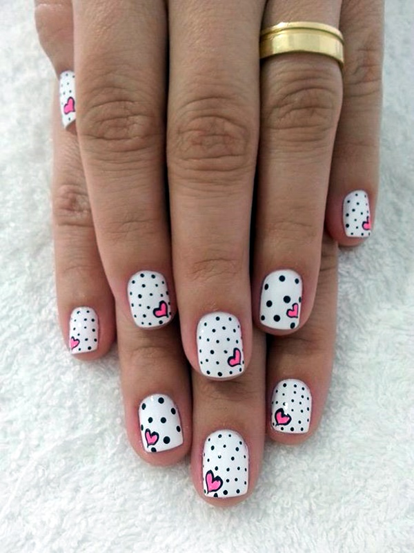 cute-pink-and-black-nails-designs-18