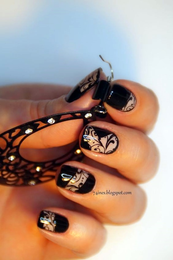 cute-pink-and-black-nails-designs-2