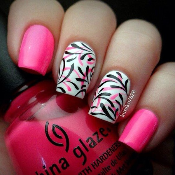 cute-pink-and-black-nails-designs-21