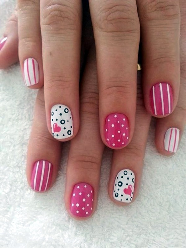 cute-pink-and-black-nails-designs-3