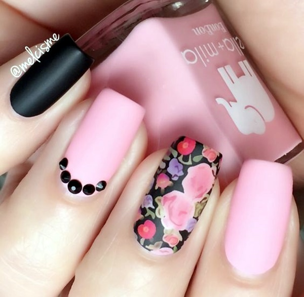 cute-pink-and-black-nails-designs-5