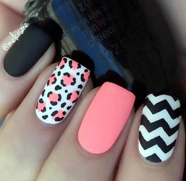 cute-pink-and-black-nails-designs-6