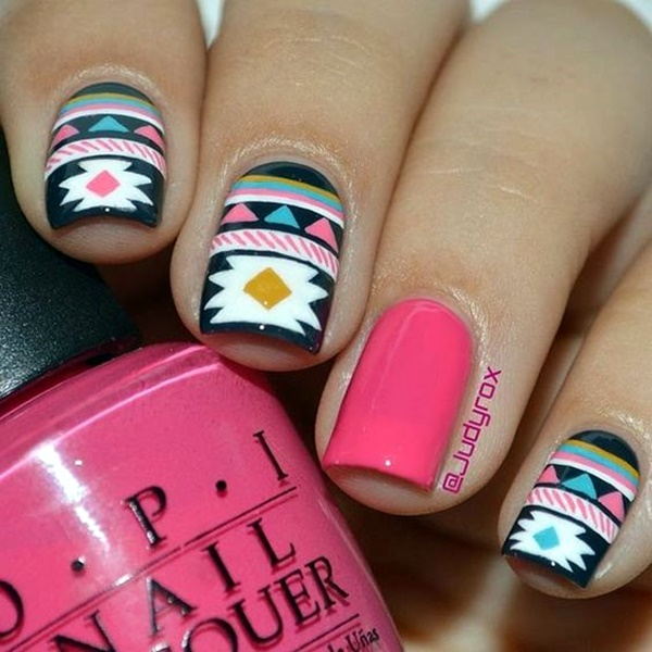 cute-pink-and-black-nails-designs-7