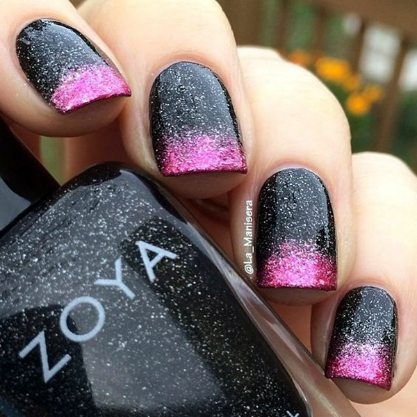 cute-pink-and-black-nails-designs-8