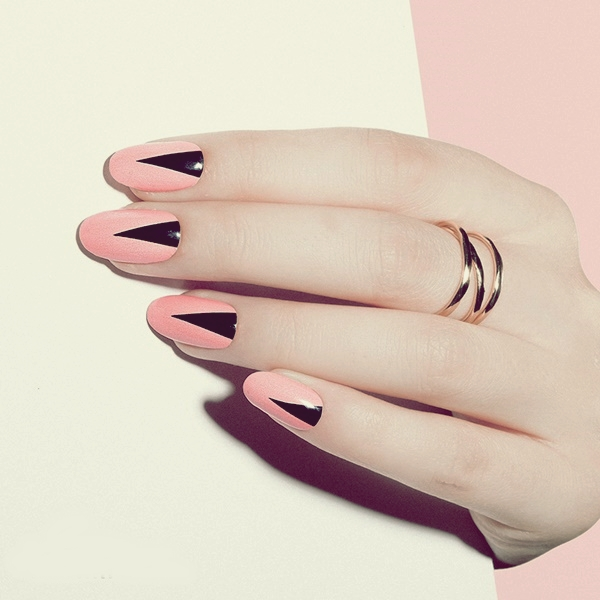 cute-pink-and-black-nails-designs-9