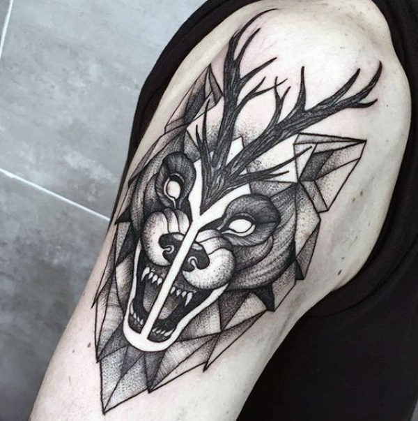 Wolf Tattoo Designs For Men24