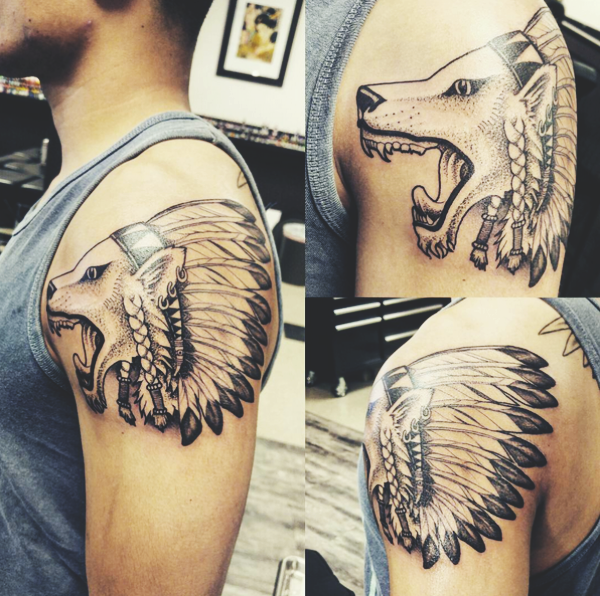 Wolf Tattoo Designs For Men30