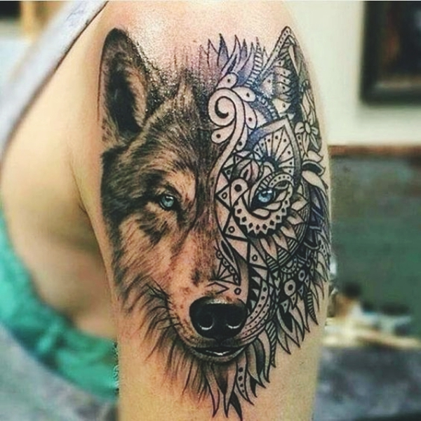 Wolf Tattoo Designs For Men35