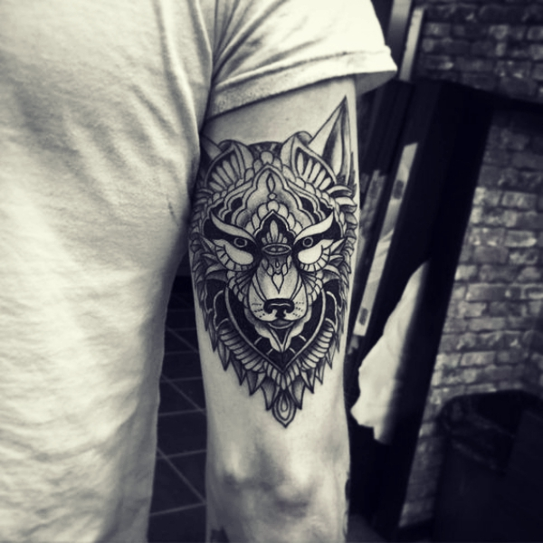 Wolf Tattoo Designs For Men34
