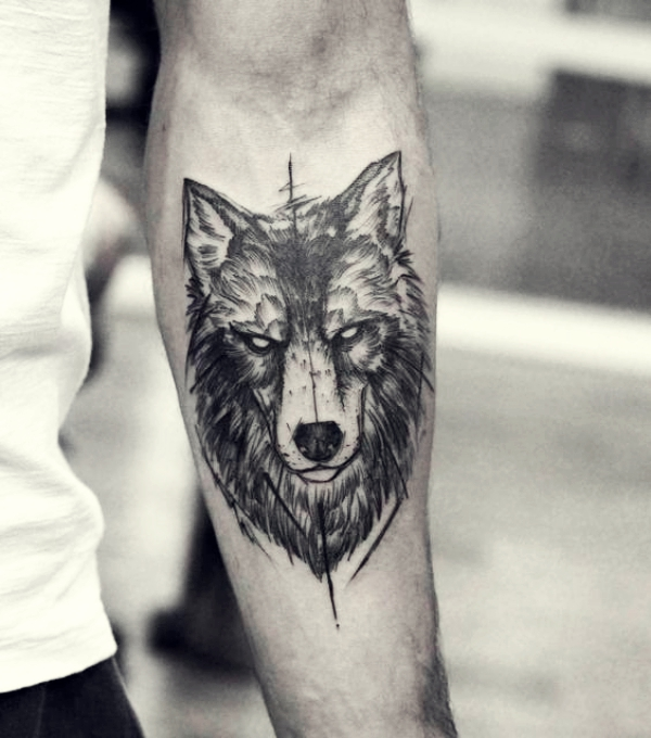 Wolf Tattoo Designs For Men38