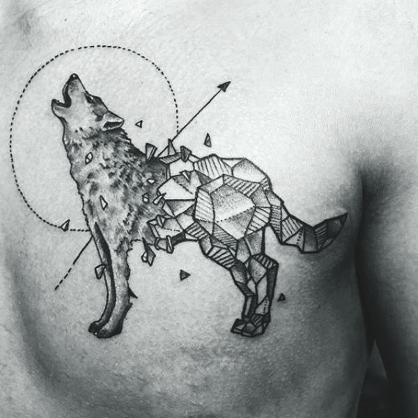 Wolf Tattoo Designs For Men40