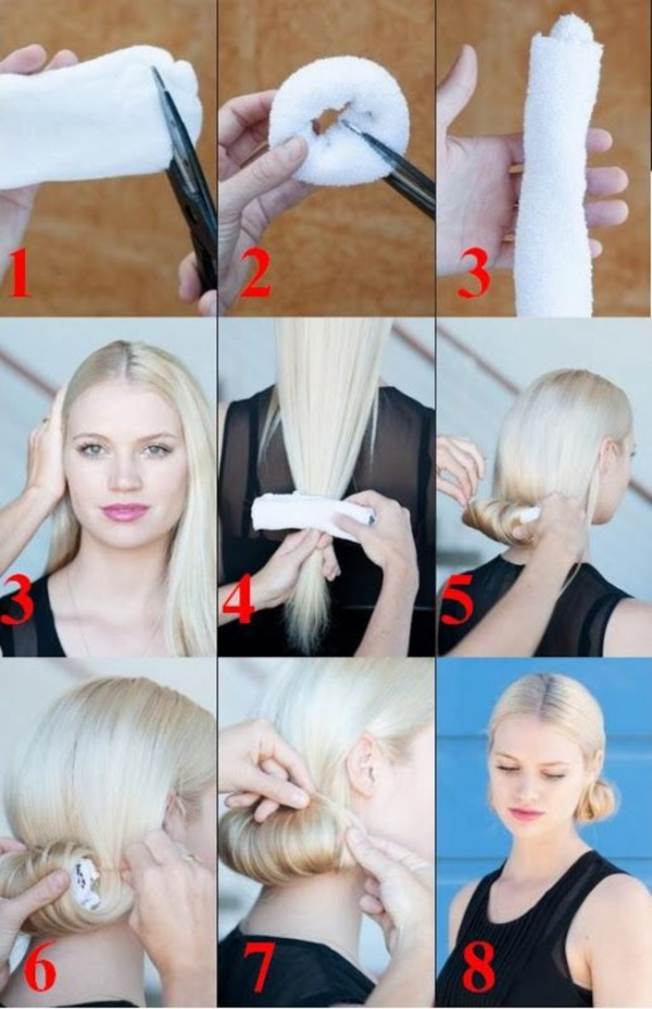 How-to-make-a-sock-Bun-Step-by-Step-Tutorials